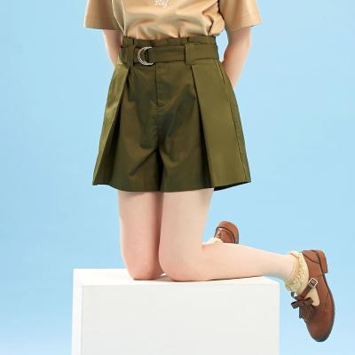 【3件1.5折价:29.9】美特斯邦威休闲短裤女夏季新款中腰气质文艺甜美都市风