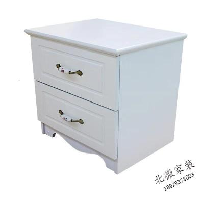 简约现代床头柜40简易储物柜迷你收纳柜卧室小柜子白色柜子 欧式床头柜 组装