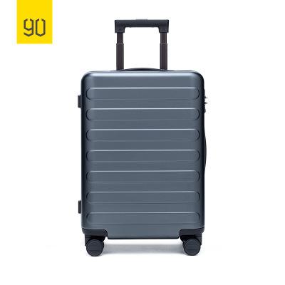 90分商旅兩用旅行箱靜音萬向輪商務登機行李箱子 男女密碼拉桿箱 28寸 鈦金灰