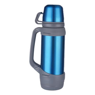 三极户外(Tripolar) TP3609 运动水壶大号保温杯多功能不锈钢便携旅游背带水壶家用自驾车载热水瓶1200ml