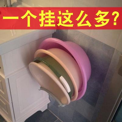 放脸盆的架子置物架浴室面盆架卫生间洗脸盆架挂墙式多功能收纳架