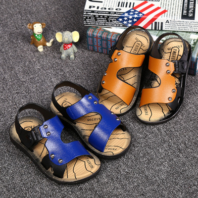新款夏季男童沙滩鞋防滑儿童凉鞋露趾小中大童宝宝户外童鞋居家鞋