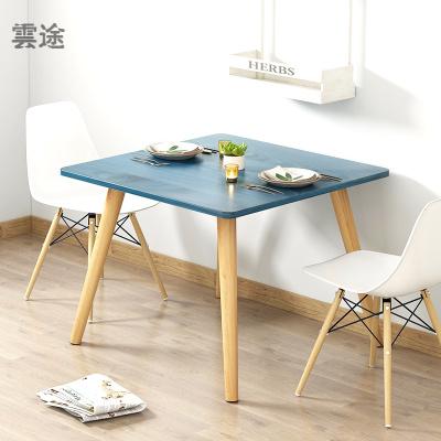 北欧风餐桌小户型现代简约正方形餐桌椅组合客厅吃饭桌实木腿餐桌定制