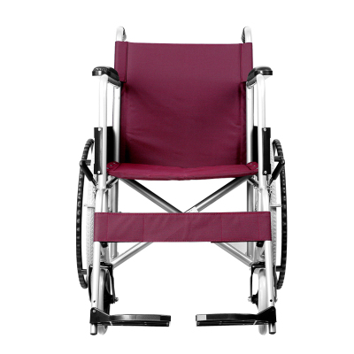 前后四手剎】可孚逸動輪椅折疊輕便老人手推車超輕便攜式帶手剎老年人殘疾人代步車紅色款普通輪椅 Cofoe