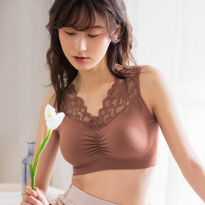 俞兆林內衣女無鋼圈文胸蕾絲美背吊帶背心打底防走光性感裹胸抹胸