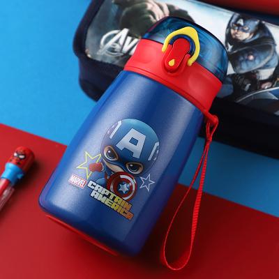 迪士尼 (Disney) 保溫杯316不銹鋼兒童彈蓋保溫水杯子男女學生戶外隨手杯吸管水壺390ml HM3322