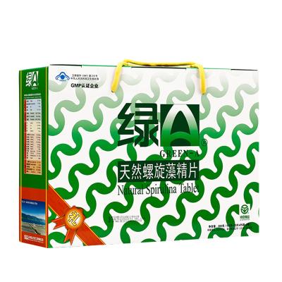 綠A天然螺旋藻精片 0.5g*12片*25袋*2筒禮盒