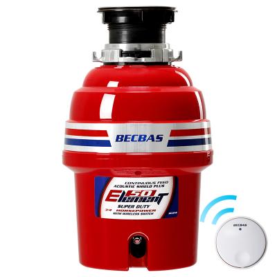 貝克巴斯(BECBAS)E50 廚房家用食物垃圾處理器 廚余垃圾粉碎機 無線開關免打孔