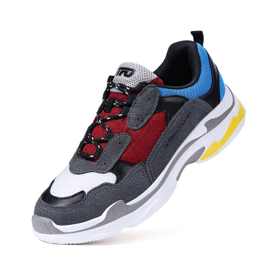 TFO 19春季新款男鞋 拼接时尚男鞋休闲鞋运动 增高厚底老爹鞋 男女
