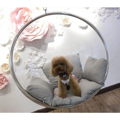 HOTBEE透明泡泡椅半球亚克力吊篮椅秋千网红抖音球形摇椅玻璃北欧太空椅
