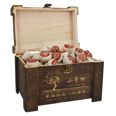 【年货礼盒】民之福 新会小青柑普洱茶6年陈宫廷普洱茶陈皮熟茶叶散装礼盒装500g