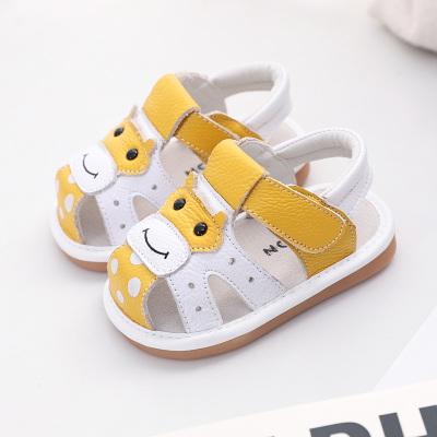 wua·wua 寶寶學步鞋嬰兒涼鞋夏季兒童男鞋1-3歲女寶寶時尚透氣卡通小童鞋沙灘鞋