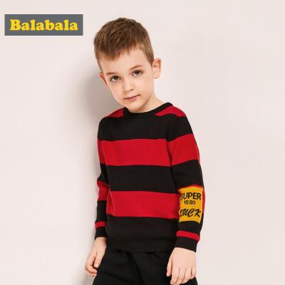 巴拉巴拉男童毛衣寶寶針織衫冬季兒童套頭線衣撞色上衣小童洋氣潮