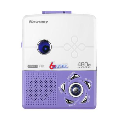 【贈布袋+清潔磁帶】紐曼99E鋰電版充電復讀機英語學習機學生磁帶播放機卡隨身聽帶機錄音機 磁帶機超長復讀智能領讀跟讀對比