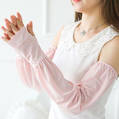 夏季寬松防曬開車冰絲袖套女薄款Z外線袖子手臂護臂手套男冰套袖威珺