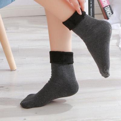 冬季加绒加厚雪地袜男女情侣保暖袜月子防臭地板袜子儿童袜莎丞
