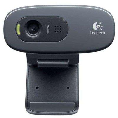 罗技(Logitech)C270网络摄像头 视频聊天游戏直播带麦克风台式机电脑普通摄像头黑色