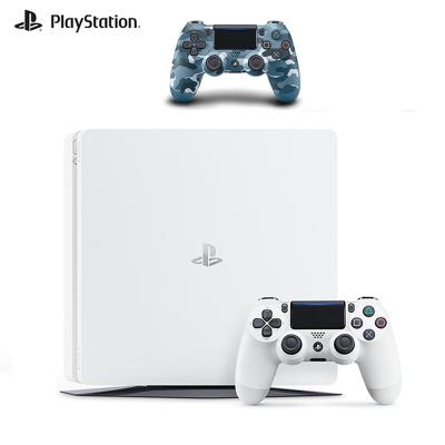 【套餐】索尼PlayStation 4 PS4 500GB國行家用游戲機色白+PlayStation 4 游戲手柄迷彩藍