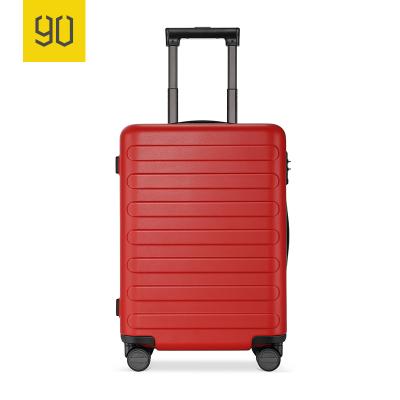 90分商旅兩用旅行箱靜音萬向輪商務登機行李箱子 男女密碼拉桿箱 28寸 珊瑚紅