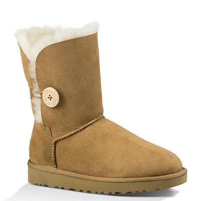 【直营】UGG(UGG) Bailey Button ll 贝莉纽扣2.0中筒平跟女士保暖雪地靴女靴1016226
