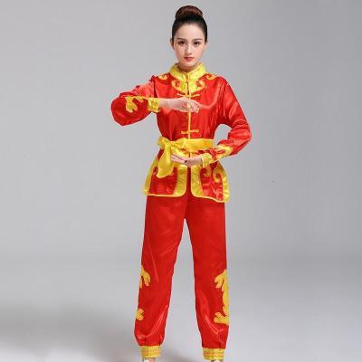 打鼓服練功服腰鼓舞龍舞獅服裝男女生秧歌服成人武術演出服表演服