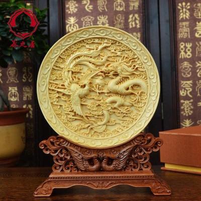包郵 黃楊木雕工藝品手工精品創意擺件商務節日辦公禮品家居裝飾