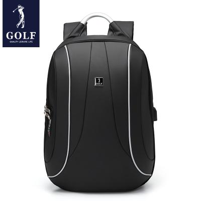 高爾夫(GOLF)男士雙肩包時尚旅行包防潑水商務學生書包2020新品多功能USB充電大容量男士背包15.6英寸電腦包