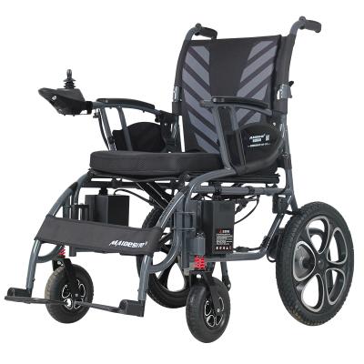 邁德斯特(MAIDESITE)電動輪椅6022 老年人殘疾人折疊輕便代步車 鋰電池手動電動切換帶手剎 充氣輪胎帶減震