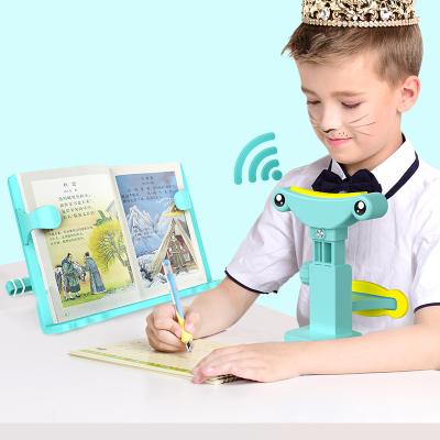 猫太子儿童视力?;て?学生防近视坐姿矫正器 塑料读写字矫正支架 索菲蓝【有声款】+阅读架