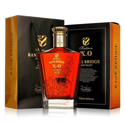 正品法国原瓶进口洋酒 凯斯蒂隆 弗兰克桥白兰地X0烈酒 700ml单瓶