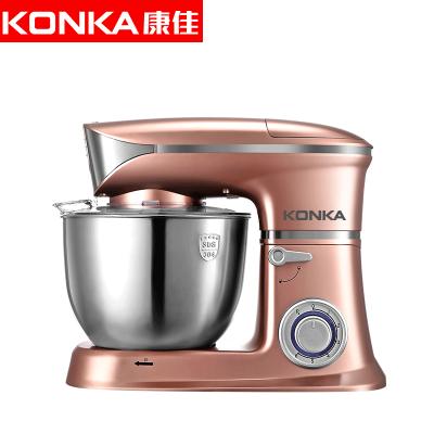 康佳(KONKA)KM-903厨师机家用和面机多功能揉面机搅拌机打蛋器料理机电子式旋钮式 玫瑰金三合一