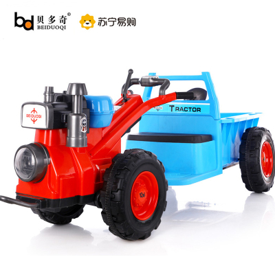 【品質保障】貝多奇(BEIDUOQI)兒童四輪電動戶外玩具童車可坐人噴火手扶托馬斯拖拉機可坐人可拉貨抖音同款電動車