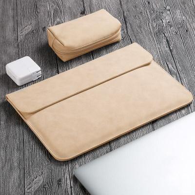 華碩VivoBook14 X 2020 14英寸筆記本電腦包S4600FL內膽包靈銳14保護套 橫款-煙棕色+電源袋
