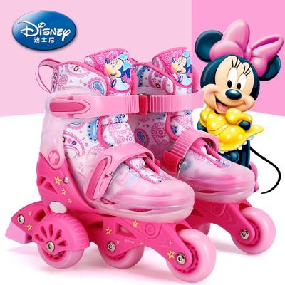 迪士尼溜冰鞋兒童初學者3歲_幼兒寶寶旱冰輪滑冰鞋男女小童孩套裝