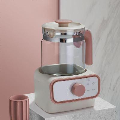 babycare恒溫調奶玻璃壺 寶寶智能全自動沖奶機 可調溫 泡奶粉暖奶器 暮色粉 6880