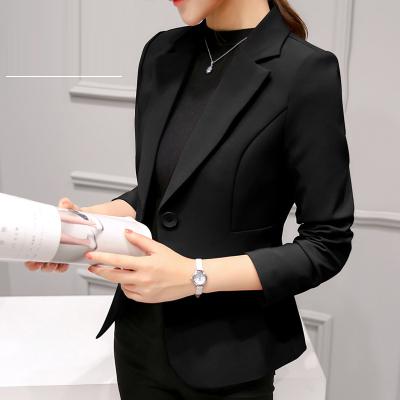莎丞 2019春夏新款女士修身韩版大码小西装外套春秋长袖时尚休闲西服