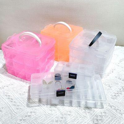 韓版大容量透明簡約多層耳環飾品盒網紅耳釘首飾收納盒發飾盒子