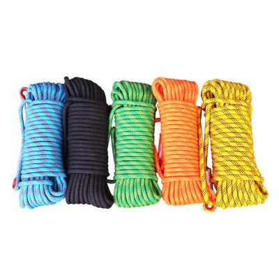 規格【16毫米30米 】登山繩攀巖繩耐磨安全繩消防救援防護繩高空作業安全繩蜘蛛人
