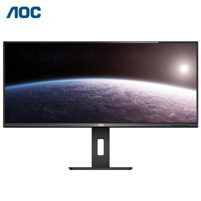 冠捷(AOC) 34英寸 帶魚屏 窄邊框IPS 可壁掛 旋轉升降 21:9液晶顯示器 專業設計商務辦公顯示屏 Q34P2