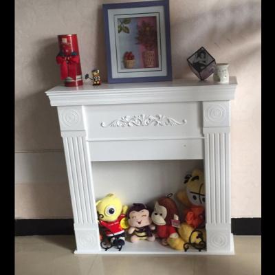 美式复古壁炉柜欧式民宿装饰柜背景墙电视柜白色简约婚礼壁炉架弧威