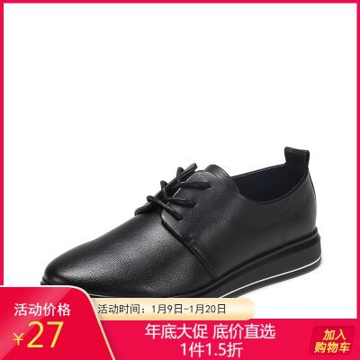 鞋柜女单鞋秋季新款系带时尚英伦风女鞋1117404259