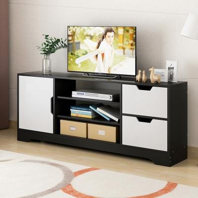 電視柜簡約現代小戶型電視機柜地柜組裝簡易客廳儲物柜子 一門無抽白框格桑增高款 組裝