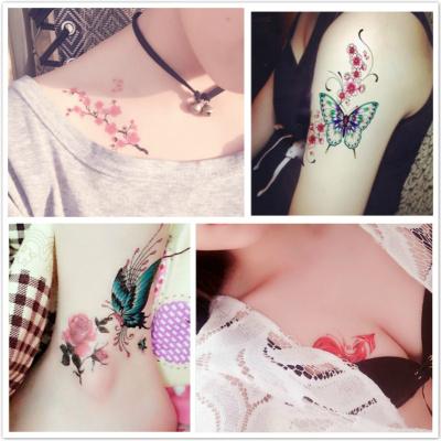 紋身貼防水女持久韓國仿真女孩逼真小清新可愛彼岸花性感鎖骨貼紙
