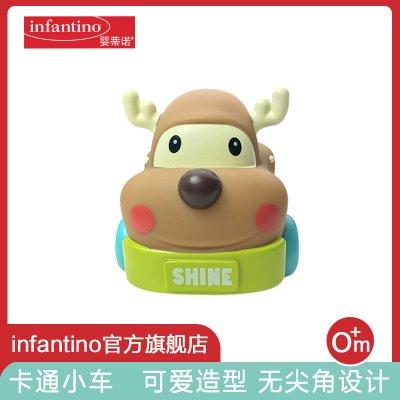 美国infantino婴蒂诺卡通小鹿车婴幼儿儿童宝宝卡通软胶玩具男孩女孩益智玩具