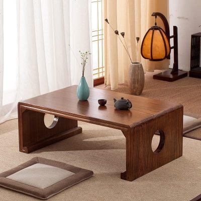 實木茶桌飄窗小茶幾日式榻榻米矮桌子國學桌炕桌家用簡約陽臺坐地