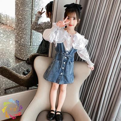 吖音3兒童4女童套裝裙5秋裝2020新款6小女孩7洋氣韓版春秋兩件套8歲潮