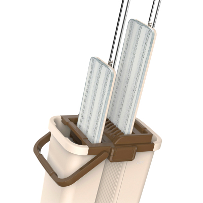 美丽雅 二代洗刷刷平板拖把 PP、纤维 国产 替代旋转拖把及拖把头