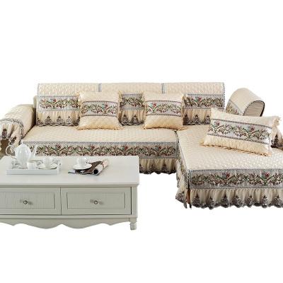 西瓜藤 四季全包沙发垫欧式防滑布艺沙发套真皮沙发罩巾123组合坐垫