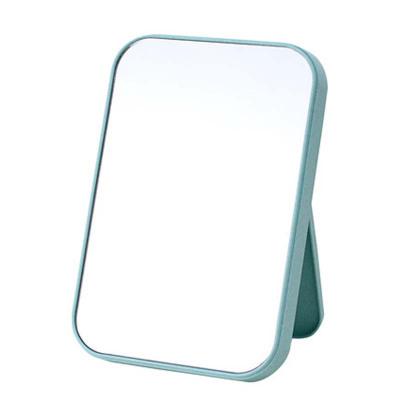 单面化妆镜子台式梳妆 镜子折叠方镜 简约现代款通用桌面镜子家用化妆镜