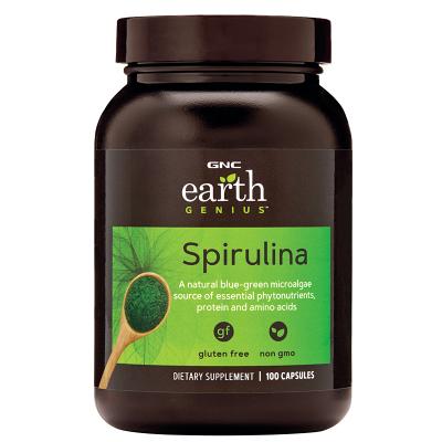 美國原裝GNC夏威夷螺旋藻Spirulina膠囊500mg100粒改善亞健康